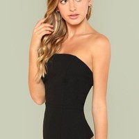Strapless Straight Line Bodysuit