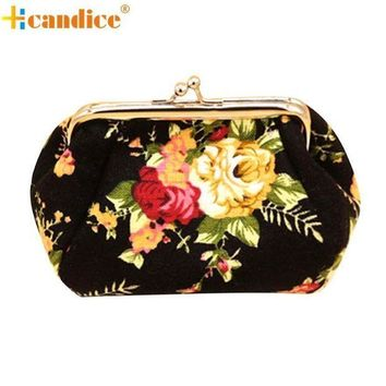 ESBONFI Naivety 2016 New Women Retro Small Wallet Hasp Coin Purse Lady Vintage Flower Clutch Bag Good For Gift JUL28 drop shipping