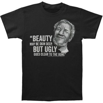 Sanford And Son Men's  Beauty But Ugly Slim Fit T-shirt Black