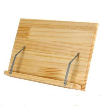 Wood Book Stand / Bookstand (Laptop / iPad / Book / Cookbook / Music Stand / Holder) (wood)