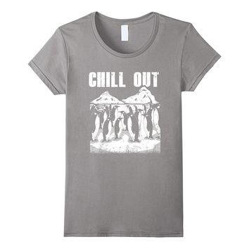 Cool Funny Penguin T-Shirt Chill Out Penguins Graphic Tee