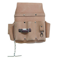 94603 - 10 Pocket Electrician's Tool Pouch in Heavy Top Grain Leather