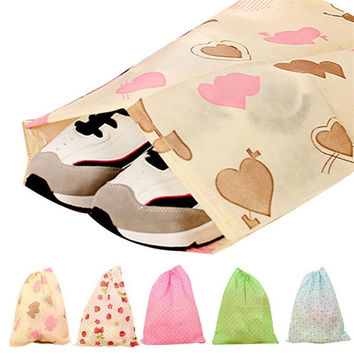 2015 Fashion Printing Shoes Bag Portable Travel Storage Pouch Drawstring Dustproof = 1741679428