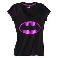 Batman® Juniors V Neck Sleep Tee - Black