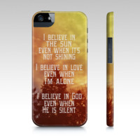 """Samsung Galaxy iPhone 5 Case """"I Believe"""" - $35.00 - Handmade Accessories, Crafts and Unique Gifts by Vintage Skies Photography & Designs"""