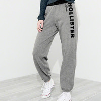 Girls High-Rise Banded Boyfriend Sweatpants | Girls Bottoms | HollisterCo.ca