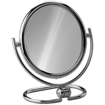 Elegant Round Table Top Double Sided Cosmetic Makeup Magnifying Mirror - 3X