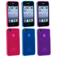 Generic Carrying Case for iPhone 4 - Non-Retail Packaging - Pink/Purple/Blue