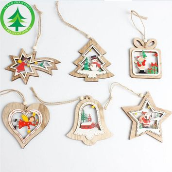 2017 Navidad Wooden Christmas Tree Decorations Christmas Decorations For Home