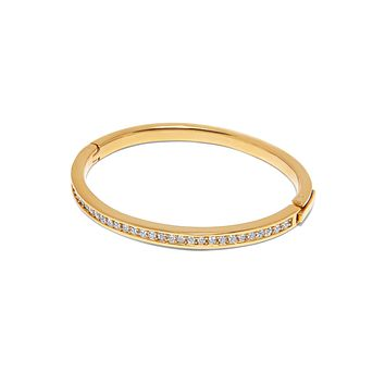 Skyfall Gold Simplicity CZ Bangle
