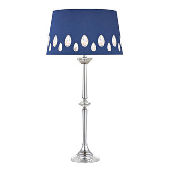 Telford Buffet Lamp in Chrome with Laser Cut Shade