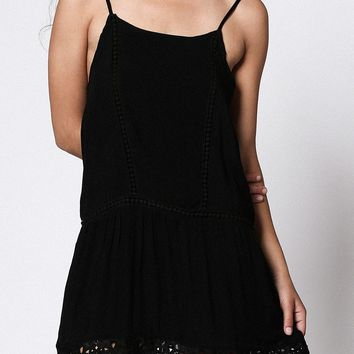 Lacey Trim Cami Dress