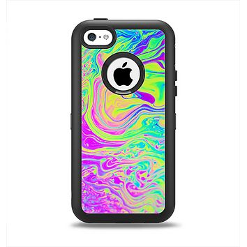 The Neon Color Fushion Apple iPhone 5c Otterbox Defender Case Skin Set
