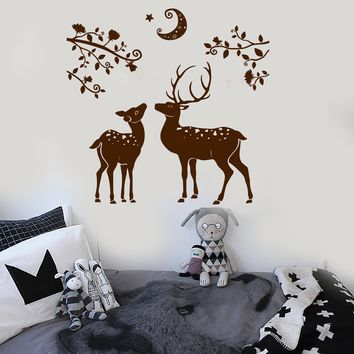 Vinyl Wall Decal Deer Fawn Child Room Nature Nursery Stickers Unique Gift (ig3931)