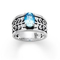 Adoree Ring with Blue Topaz | James Avery