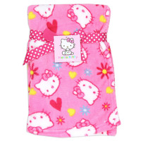 "HELLO KITTY GIRLS PLUSH BABY 30""X30"" BLANKET"