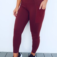 Sweat Now, Shine Later Pants: Oxblood