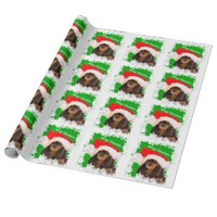 Black Tan Cavalier King Charles Christmas Paper Wrapping Paper