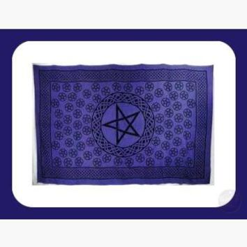 Purple Pentagram Tapestry