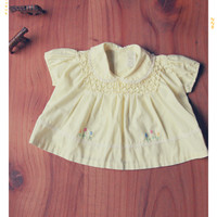 Sunny Smocked Embroidered Tunic Dress 3/6mos | VINTAGE
