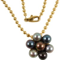 Barichella designed gorgeous Tahitian multi-colored pearls, on 18K solid gold chain, stamped and signed by designer