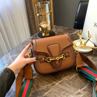 GUCCI Leather Small Crossbody Shoulder Bag