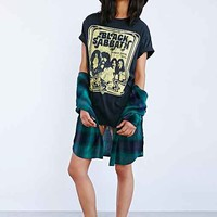 Black Sabbath Tee Dress- Washed Black One