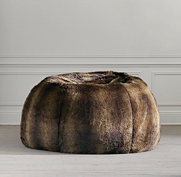 Grand Luxe Faux Fur Bean Bag Sable From Restoration Hardware