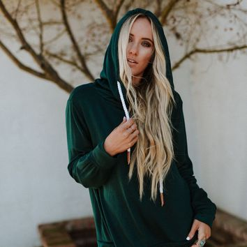 Rebel Heart Oversized Sweatshirt - Hunter Green