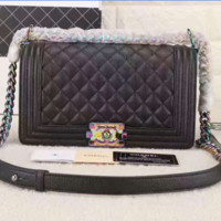 Chanel Women Shopping Leather Metal Chain Crossbody Satchel Shoulder Bag H-3A-XNRSSNB