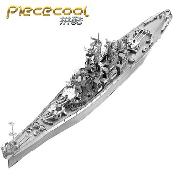 PIECECOOL P096-S U.S.USS MISSOURI BB-63 3D Metal Assembly Model Jigsaw Puzzle Gift Collection Military Subject Matter Nagato
