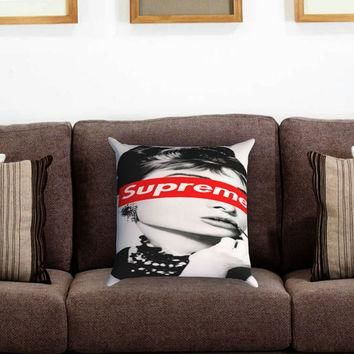 Audrey Hepburn Supreme Pillow Cover , Custom Zippered Pillow Case One Side Two Sides
