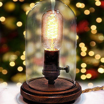 Edison Lamp - Desk Lamp - Steampunk Light - Industrial Lamp - Colonial Light - 2 BULBs INCLUDED - Table Lamp