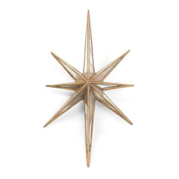 "Antique Gold ""Twinkle"" Star"