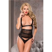 Allure Lingerie AL-4-3302 Racy Fitted Mesh Teddy