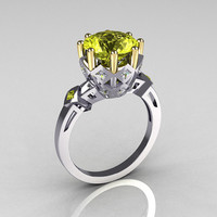 Modern Vintage 14K White Gold Two Tone 3.0 Carat by artmasters