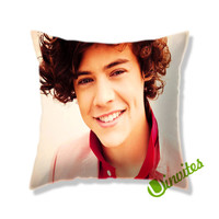 Harry Styles Smiling Square Pillow Cover
