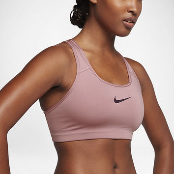 The Nike Classic Swoosh Women's Medium Support Sports Bra.