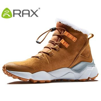 RAX Women's Hiking Boots Winter Snow Boots Women Outdoor Hiking Shoes Trekking Warm Anti-slip Shoes  Women Climbing Boots