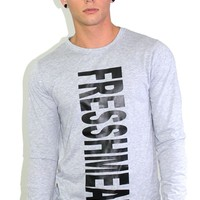 Meat Long Sleeve Tee- Grey