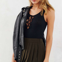 Project Social T Lace-Up Ribbed Tank Top - Urban Outfitters