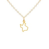 Tiny Texas Outline Necklace