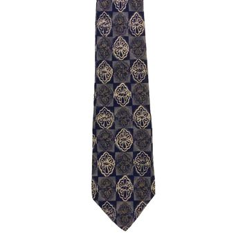 Halston Foulard Wide Silk Tie - Multicolor