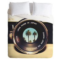 Bianca Green Focus On Palms Duvet Cover