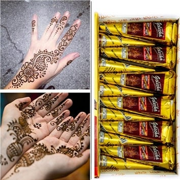 Henna Natural Jet Black Plant Henna Tattoo Paste Into The Dark Deluxe Edition of India Authentic = 5660909121