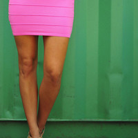 Banded With Love Skirt: Bubblegum | Hope's