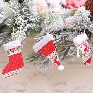 Christmas Hanging Ornament Santa Claus Gift Bag Xmas Tree Home Decoration Christmas Xmas Decorations New Year Decoration