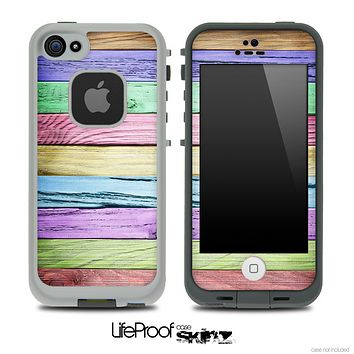 Slanted Color Wood V5 Skin for the iPhone 5 or 4/4s LifeProof Case