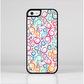 The Bright Colored Vector Spiral Pattern Skin-Sert Case for the Apple iPhone 5c