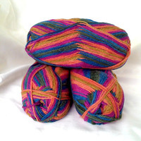 YARN KNITTING WOOL Acrylic Yarn Art Design YarnMulticolor Yarn Crochet Yarn Socks Handmade